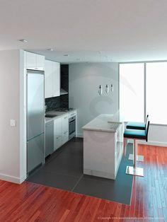 3D Kitchen Layout. ::