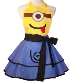 Minion Apron Minion Cosplay by WellLaDiDa on Etsy, $55.00