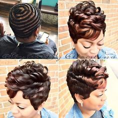 Homepage - Voice of Hair 27 Piece Hairstyles, Weave Hairstyles, Pretty Hairstyles, Girl Hairstyles, Short Sew In Hairstyles, Love Hair, Gorgeous Hair, Short Hair Cuts, Short Hair Styles
