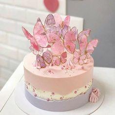 Gorgeous Cakes, Pretty Cakes, Amazing Cakes, Butterfly Birthday Cakes, Butterfly Cakes, Butterflies, Elegant Birthday Cakes, Pretty Birthday Cakes, Cake Birthday