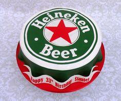 Heineken Beer Cap Cake - Beer cap cake to feed 50. All edible.