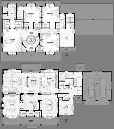 Critique on floor design Large House Plans, Vintage House Plans, My House Plans, Luxury House Plans, Bedroom House Plans, Country House Plans, House Floor Plans, Castle Floor Plan, House Plans Mansion