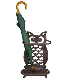 Cast Iron Owl Umbrella Stand