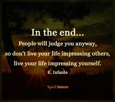 Who are you impressing?