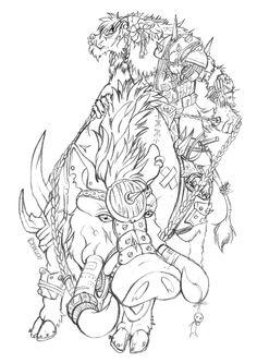 knallart e javali de batalha by cristalwolf ok
