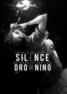 """""""There is an ocean of silence between us and I am drowning in it """" Anime : Haikyuu"""