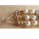 Three Strand Bracelet made using WigJig jewelry making tools out of beads, jewelry wire and jewelry supplies.