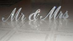 Swarovski Crystal MR & MRS 6 standing sign by AllDesignsThatShine, $89.95