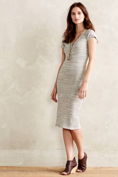 Heathered Column Dress | anthropologie
