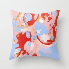 Color Study No.8 Throw Pillow available at Society6