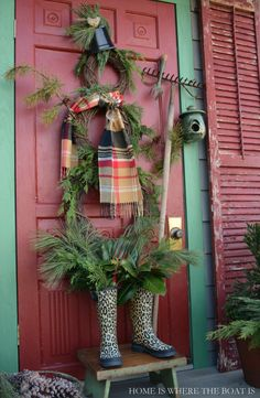 Potting Shed Winter Fun: Grapevine Wreath Snowman | Home is Where the Boat Is