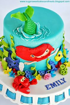 Little Mermaid Ariel Cake by Angela Tran (SugarSweetCakesAndTreats.com)