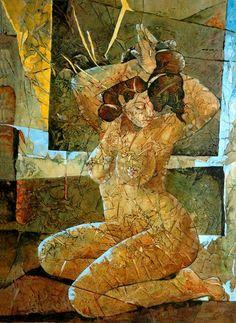 'In fluorescenza di un giglio pistillo il volo tra le mani e mentre avanzi siderale al mio cospetto   si spalanca il firmamento librandomi pura danzante e corteggiante tra le stelle...'  ~ Catherine La Rose ~ painting by ✿ Inam RAJA ✿