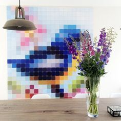 Ilse brightened up her living room by using this 'Patchwork Bird' Pixel of our Special Collection. For more inspiration, have a look at our Blog: http://www.ixxidesign.com/blog #IXXI #ixxidesign #home #inspiration #livingroom #walldecoration #style #interior #colors #design