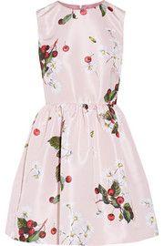 Printed faille mini dress