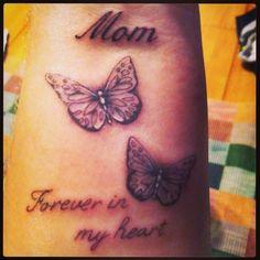 Memorial Butterflies Tattoo