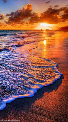 sunset on the shore...