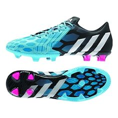 Adidas Predator Instinct FG Soccer Cleats (Solar Blue/Core White/Core Black) | Adidas Soccer Cleats | FREE SHIPPING | M17642 |  Adidas Preda...