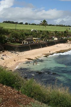 Ho'okipa Beach, near Paia, the best windsurfing site in Maui. We'll be here to watch for sure.