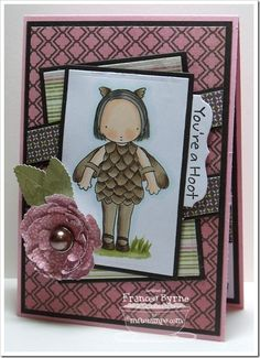 Mats and layers along with the color combinations make this You' re a hoot card a winner!  Great Stamp coloring work too!