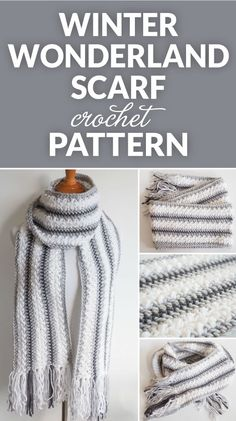 Winter Wonderland Crochet Scarf Pattern These free crochet infinity scarf patterns can be made simple or complex depending on what you are looking for a crochet pattern. Crochet Infinity Scarf Pattern, Poncho Au Crochet, Easy Crochet Patterns, Crochet Scarves, Crochet Designs, Crochet Clothes, Crochet Yarn, Crotchet, Crochet Scarf Easy