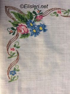 This Pin was discovered by ser Cross Stitch Art, Cross Stitch Flowers, Cross Stitch Designs, Cross Stitch Embroidery, Hand Embroidery, Palestinian Embroidery, Hardanger Embroidery, Bargello, Table Covers