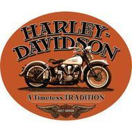 Harley Davidson Fat Boy Gas Cap Sign Ande Rooney Harley Davidson Embossed Tin Sign Collection utilizes lithographed on tin process, this makes for a more detailed and inticate sign. The result is a re