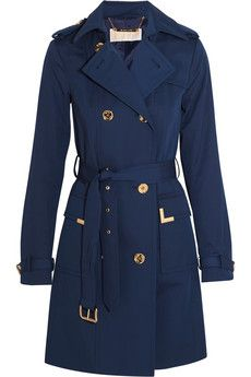MICHAEL Michael Kors Beverly cotton-blend trench coat | NET-A-PORTER