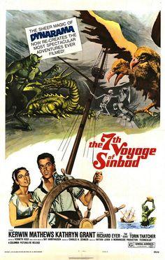 The voyage of Sinbad – Nathan H. Juran The voyage of Sinbad – Nathan H. Horror Movie Posters, Movie Poster Art, Horror Movies, Great Films, Good Movies, Fiction Movies, Adventure Movies, Sinbad, Columbia Pictures