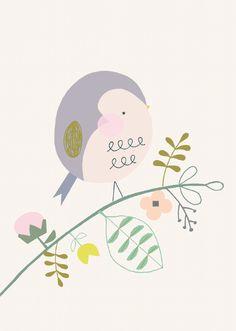 Ansichtkaart - Vogel - Vicky Riley