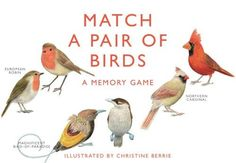 Chronicle Books Match a Pair of Birds Memory Game European Robin, The Ostrich, Star Illustration, Northern Cardinal, Urban Nature, Glasgow School Of Art, Blue Tit, Bird Theme, Bird Crafts