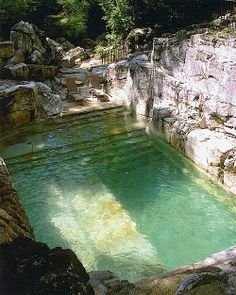 Amazing pool made from limestone | I absolutely love this - but, don't know where it is !