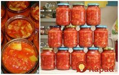 Výborná omáčka z cukety a papriky - chutí naozaj ako kupovaná omáčka Uncle Beans. Potrebujeme: 0,5 kg cukety 0,5 kg zelenej papriky 0,5 kg červenej papriky (niekedy sú červené kapie drahé, tak dávam len 1 kg paprík zelených) 0,5 kg Pesto, Salsa, Beans, Food And Drink, Stuffed Peppers, Vegetables, Cooking, Desserts, Recipes