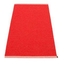 Mono Matta 85x160 cm, Röd, Pappelina