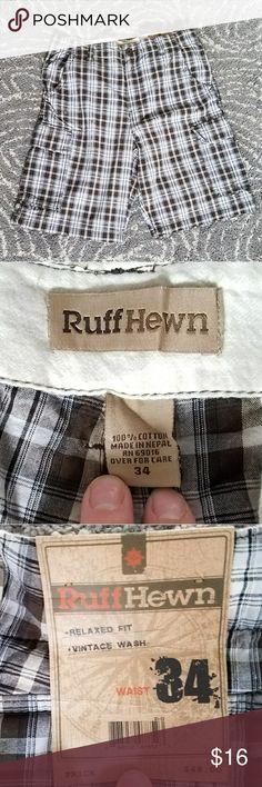 NWT Ruff Hewn cargo shorts BET Ruff Hewn plaid cargo shorts Shorts Cargo