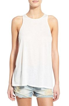 RVCA High Neck Racerback Tank available at #Nordstrom