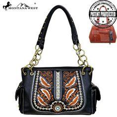 Montana West Feathers Concealed Carry Satchel – Handbag-Addict.com
