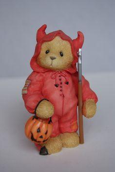 "Sammelfigur - Cherished Teddies - Halloween - TREVOR - ""You Bring Out The Devil In Me"""