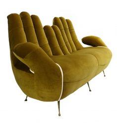 Large 50's Italian 'Hands' Sofa