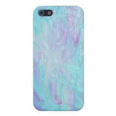 Wet Turquoise Paint Case iPhone 5 Cases by Mega Case