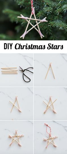 DIY Christmas Stars - such a fun and simple craft for kids of all ages. Love 'em for ornaments or garland decor.