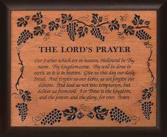 images of the lord's prayer   Home ♦ Carved Wood ♦ Framed Carving - The Lord's Prayer