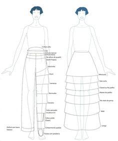 comprimentos de saias - Pesquisa Google