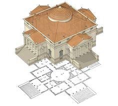 Палладио, Андреа. Четыре книги о архитектуре. Венеция, 1570. Первое издание.