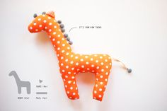 Clubinho de couture: Comment faire une girafe très doux en tissu!