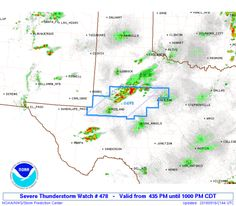 SPC Severe Thunderstorm Watch 478 Status Reports