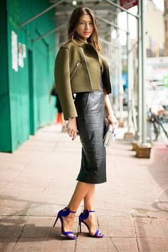 swhsissy:notonmyclothes:  Is that vintage leather?  Mmm not sure but I would prefer it without pockets!