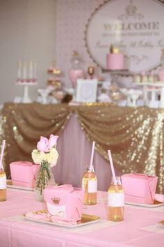 Pink and Gold Princess Party So Many Really Cute Ideas via Kara's Party Ideas KarasPartyIdeas.com #RoyalPrincess #Party #Ideas #Supplies (9)