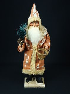 14 inch Paper mache *German Santa* candy container by Paul Turner studio