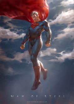 #Superman #Fan #Art. (Man of Steel) By: Lius Lasahido. (THE * 5 * STÅR * ÅWARD…
